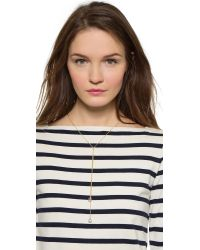 Giles & Brother - Metallic Hope & Love Lariat Fine Chain Necklace - Gold/Silver - Lyst