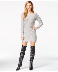 Guess | Gray Hardware-detail Tunic Sweater | Lyst