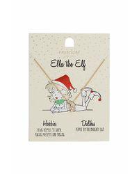 TOPSHOP - Metallic Ella The Elf Necklace - Lyst