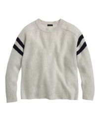 J.Crew | Blue Collection Cashmere Sweater in Varsity Stripe | Lyst