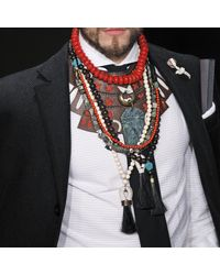 Lulu Frost | Brown G. Frost X Michael Bastian - Large Prayer Bead Necklace for Men | Lyst