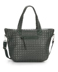 Saks Fifth Avenue | Green Quilted Nylon Tote | Lyst
