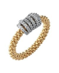 Links of London | Metallic Star Dust Yellow Gold Crown Ring | Lyst