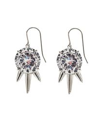 Noir Jewelry | Metallic Three Spike Mini Punk Drop Earrings | Lyst