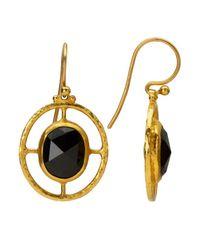 Gurhan - Metallic Compass 24k Gold And Black Sapphire Earrings - Lyst