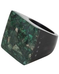 Marni - Green Pyrite Resin Ring - Lyst