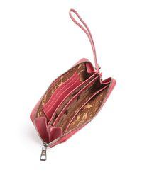 Longchamp - Pink Le Pliage Leather Wristlet - Lyst