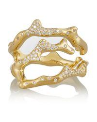 Ippolita | Metallic Stardust Reef 18-Karat Gold Diamond Ring | Lyst