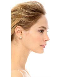 Marc Jacobs - Natural Enamel Logo Disc Stud Earrings - Lyst
