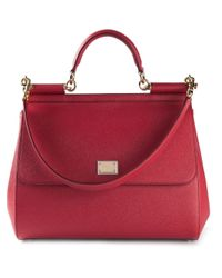 Dolce & Gabbana   Red Large 'Sicily' Tote   Lyst