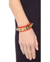 Aurelie Bidermann | Orange Camden Bracelet | Lyst