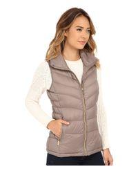 MICHAEL Michael Kors | Brown Stand Collar Packable Vest | Lyst