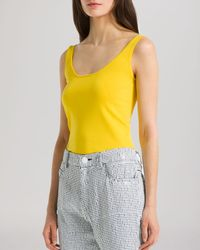 Sandro - Yellow Top - Sibella Scoop Tank - Lyst