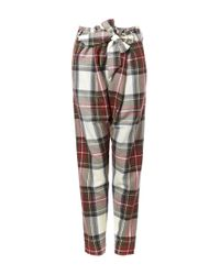 Vivienne Westwood Anglomania - Red Tartan Trousers - Lyst