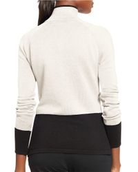Lauren by Ralph Lauren | Natural Colorblocked Cotton Pullover | Lyst