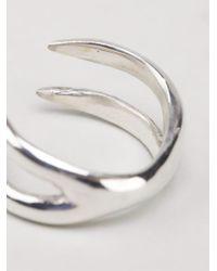 Maxime Llorens | Metallic 'x' Ring | Lyst