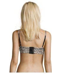 Vitamin A | Multicolor Imitation Python 'sophia' Bustier Bikini Top | Lyst