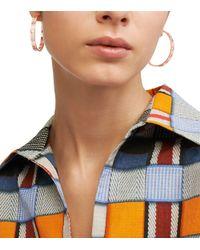 Tory Burch | Metallic Pierced T Hoop Earring | Lyst