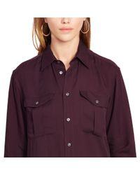 Polo Ralph Lauren | Purple Relaxed Twill Shirt | Lyst