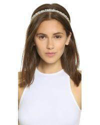 Deepa Gurnani - Black Natalie Headband - Ivory - Lyst