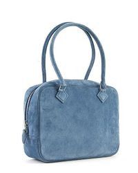 Hermès - Pre-owned Blue Jean Doblis Plume 20cm Bag - Lyst