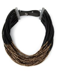 Brunello Cucinelli | Metallic Beaded Multi-strand Necklace | Lyst