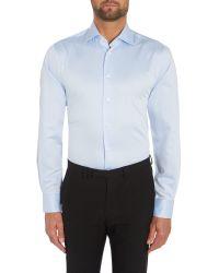 Tommy Hilfiger | Blue Jake Slim Fit Plain Shirt for Men | Lyst