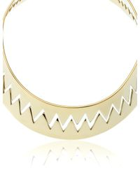 Annelise Michelson | Metallic Gold Carnivore Choker | Lyst
