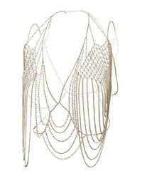 TOPSHOP | Metallic Pearl Drape Body Chain | Lyst