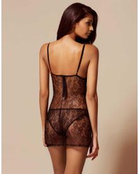 Agent Provocateur - Black Raphaella Lace and Tulle Corset - Lyst