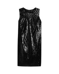 agnès b. - Black Sequins Zip Dress - Lyst