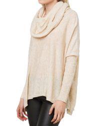 AKIRA - Pink Oversized Neck Sweater - Lyst