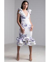f9fa4ed681b9 Lyst - AKIRA Rebeccas Garden Floral Midi Dress in White