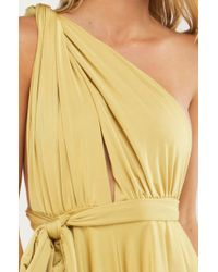 Akira - Yellow New You Tie Up Romper - Lyst