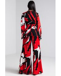 Akira - Red Abstract Art Wide Leg Pant - Lyst