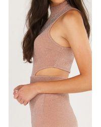 AKIRA - Multicolor Glimmer And Glam Cutout Bodycon Dress - Lyst
