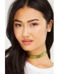 Akira - Multicolor Some To Talk With Satin Choker Set - Lyst