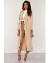 AKIRA - Natural The One Open Front Long Cardigan - Lyst