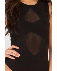 AKIRA - Black Oh So Scandalous Mesh Detail Bodysuit - Lyst