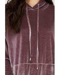 AKIRA - Gray Dark Side Velvet Longsleeve Sweater Dress - Lyst