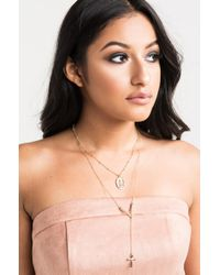 Akira - Multicolor High Praise Necklace - Lyst