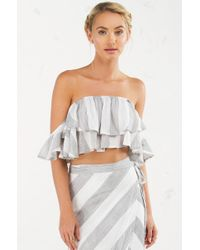 Akira | Multicolor A Lovely Time Off The Shoulder Top | Lyst