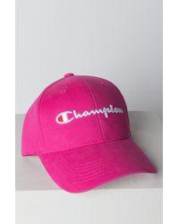 281d482faa2 Lyst - Champion Classic Twill Hat in Pink