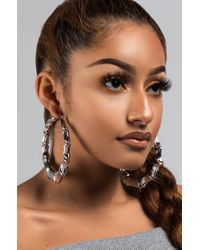 Unk - Metallic Uptown F Hoop Earrings - Lyst