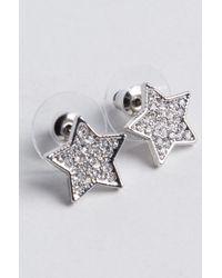 Akira - Metallic Cosmic Sparkly Star Studs - Lyst