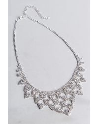 Akira | Metallic Good Advice Rhinestone Necklace | Lyst
