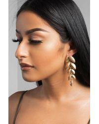 Akira - Metallic Laurel Earrings - Lyst