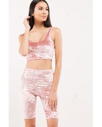 Akira - Pink Since We Last Spoke Biker Short - Lyst