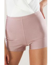 Akira - Multicolor Go Mad Bandage Highwaist Shorts - Lyst