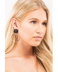Akira - Metallic Take It Easy Baby Rose Gold Drop Earring - Lyst